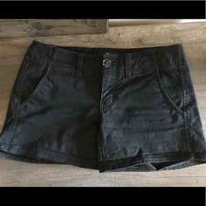 American Eagle Shortie Twill Black Shorts